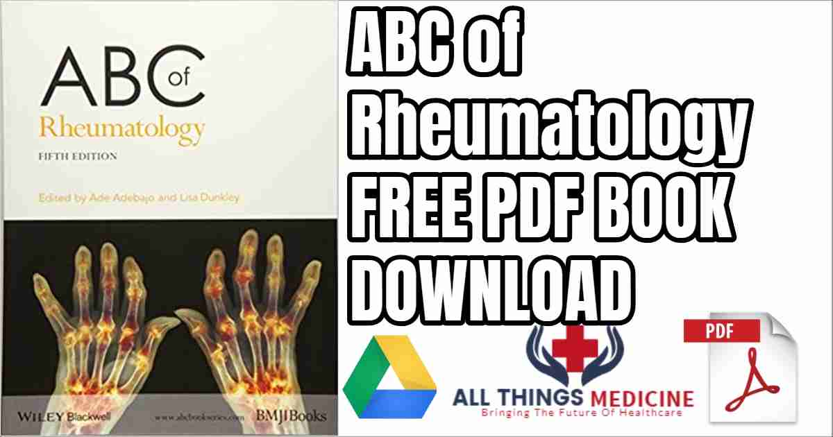 ABC of Rheumatology 5th edition free PDF Download Book