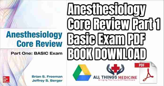 Anesthesiology core review