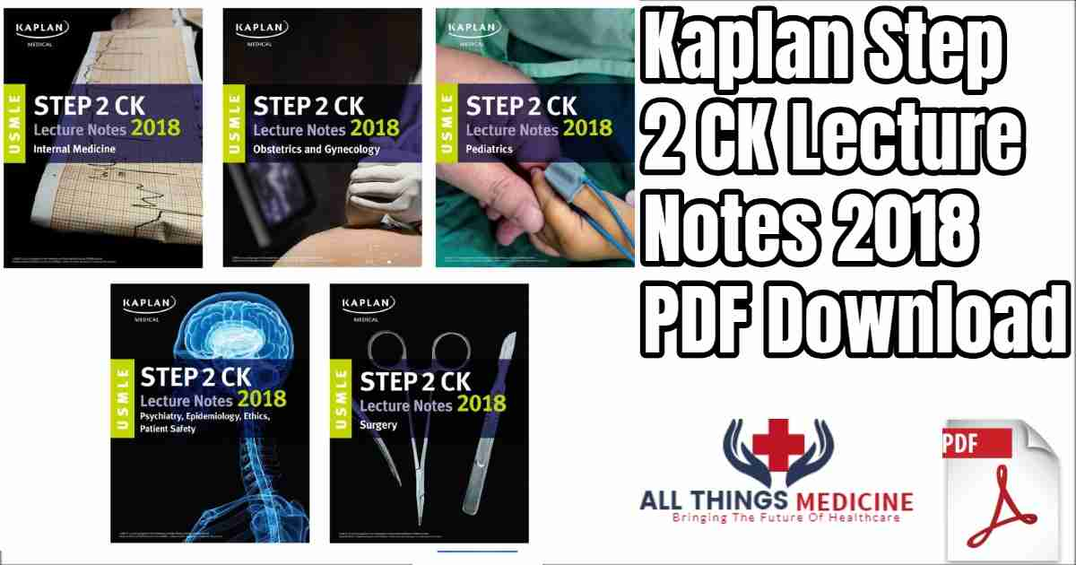 Kaplan Step 2 Ck Usmle All Books 2018 Latest Edition Free Pdf Download