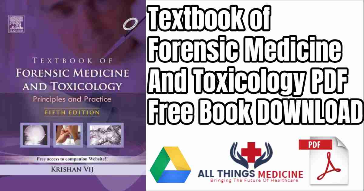 Textbook of Forensic Medicine And Toxicology Free PDF Download