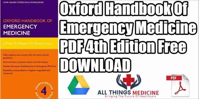 Oxford Handbook of Emergency Medicine PDF