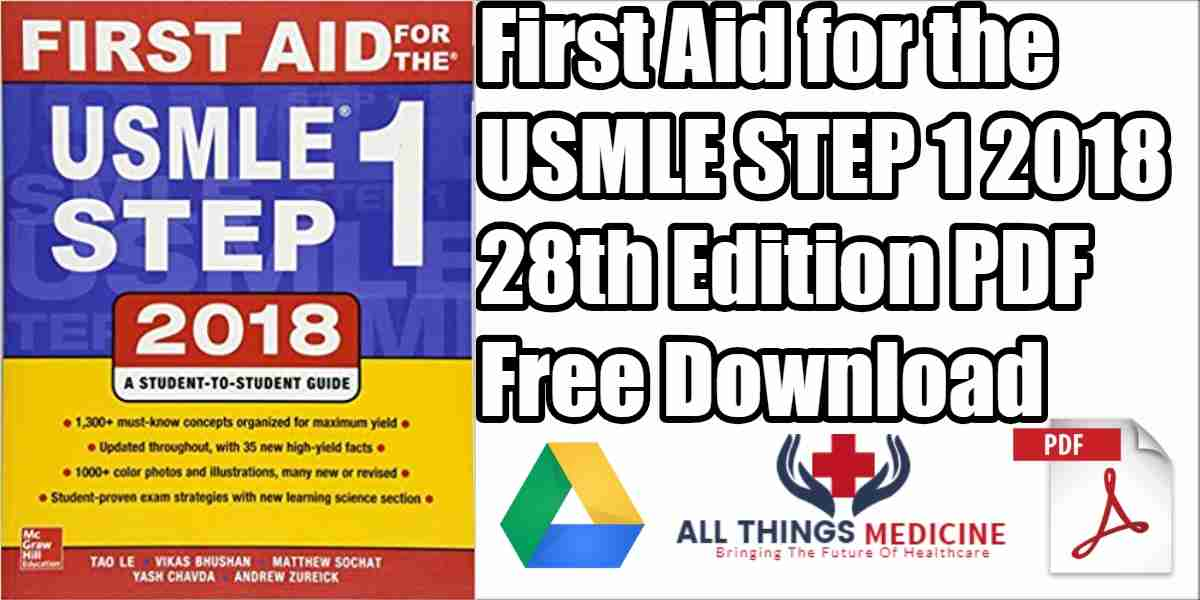 First Aid for the USMLE Step 1 2018 PDF 28th Edition Free