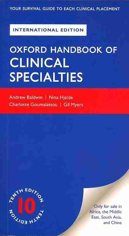 oxford handbook of clinical specialties pdf