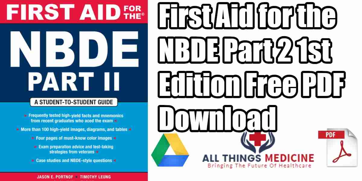 First Aid for the NBDE Part 2 PDF Free Download [Direct Link]